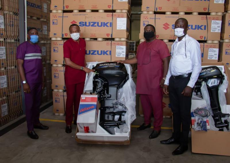 BIZ GPS delivers first batch of Suzuki outboard engines to CODA